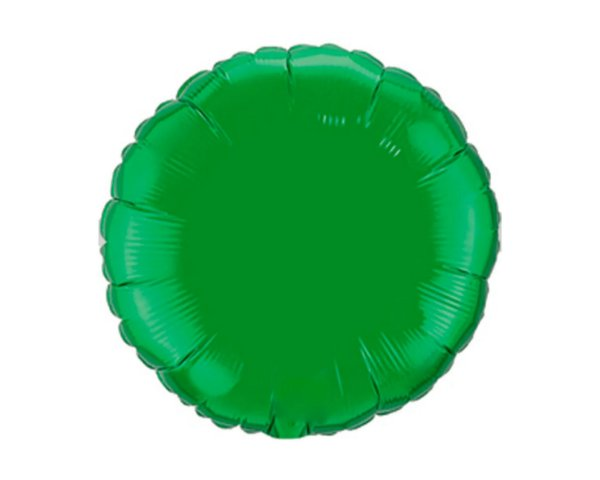 Balão Metalizado Redondo Verde Cromo 45 cm