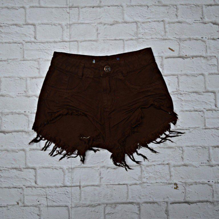 Shorts Jeans Marrom