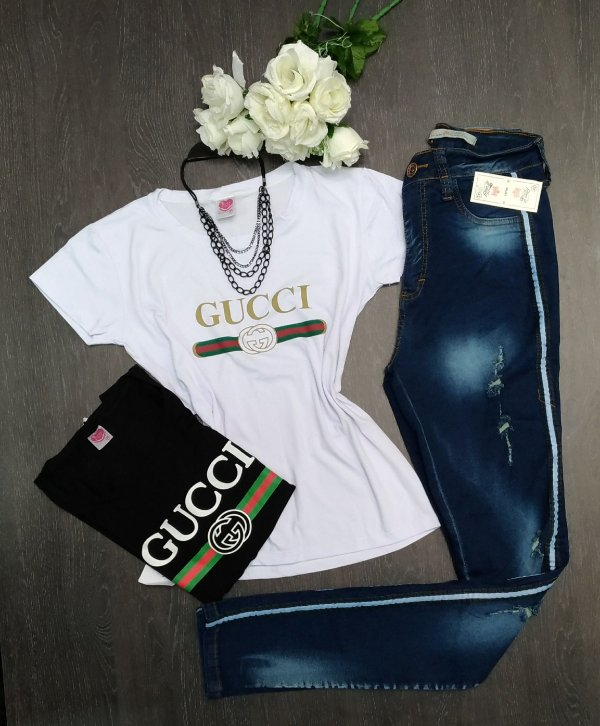 T-shirt Camiseta Estampada Gucci