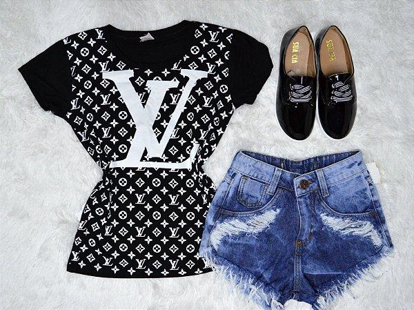 T-Shirt Camiseta Louis Vuitton Estampada