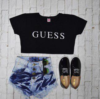 T-Shirt Camiseta Guess