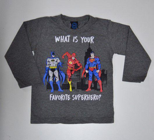 Camiseta Manga Comprida Superhero