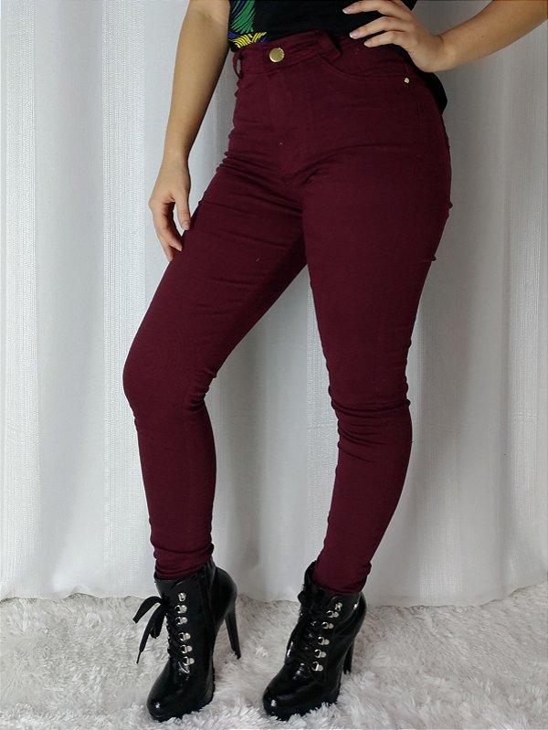Calça Jeans Ozup Bordô