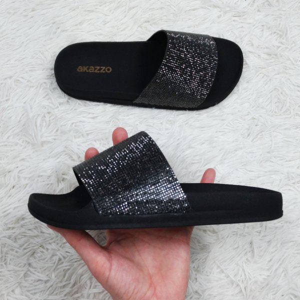 Chinelo Slide Brilhoso