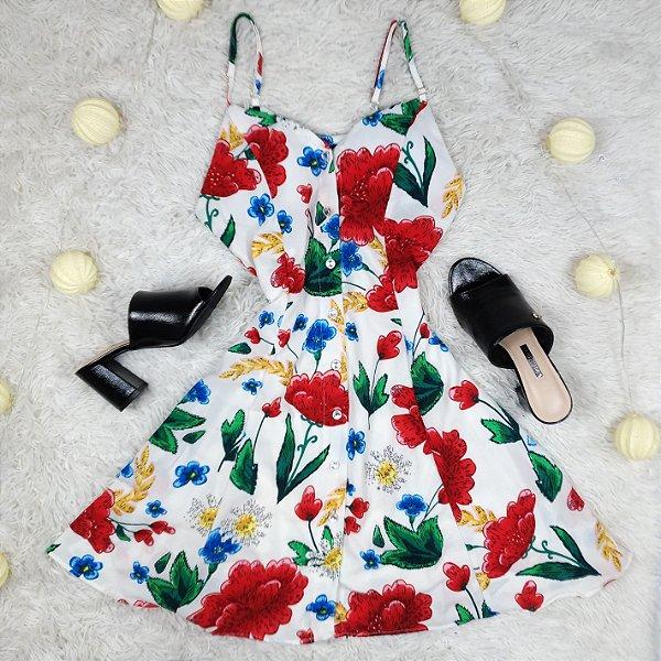 Vestido Rodado Floral com Alcinha