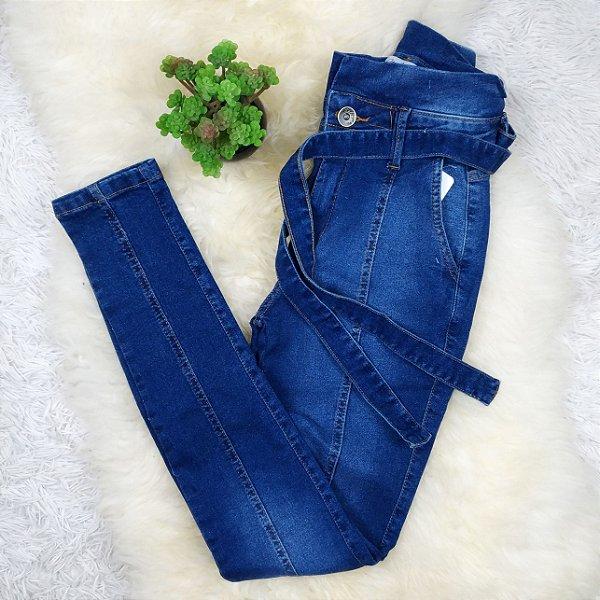 Calça Jeans Amarra Na Cintura