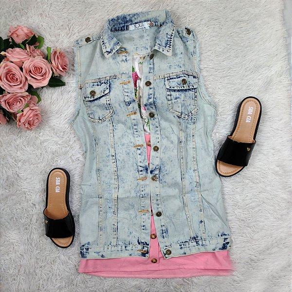 Colete Jeans Ferrugem