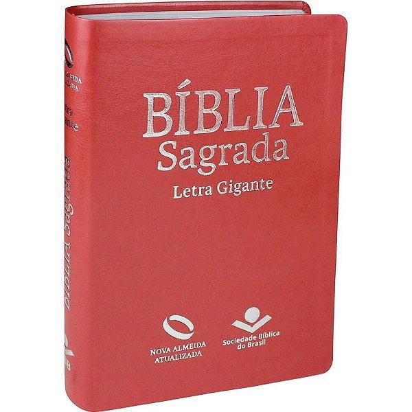 Bíblia sagrada / Nova Almeida Atualizada /letra Gigante / pêssego / SBB