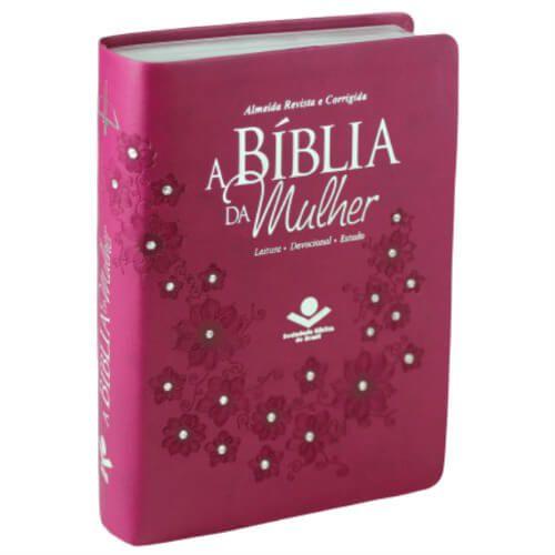 A Bíblia da Mulher Almeida Revista e corrigida - leituras - devocionais - estudos / cor vinho
