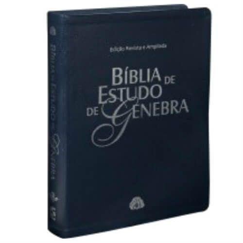Bíblia de estudo de Genebra - Edição Revista e Ampliada - Capa couro sintético