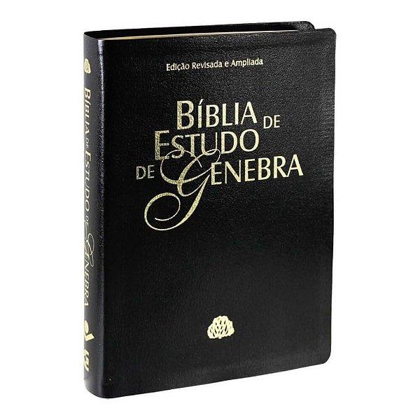 Bíblia de Estudo de Genebra / Edição Revista e ampliada /couro bonded / preta / SBB