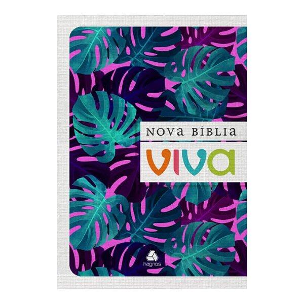 Nova Bíblia Viva / Folhagem roxa / Letra grande / Brochura flexível / Editor Hagnos