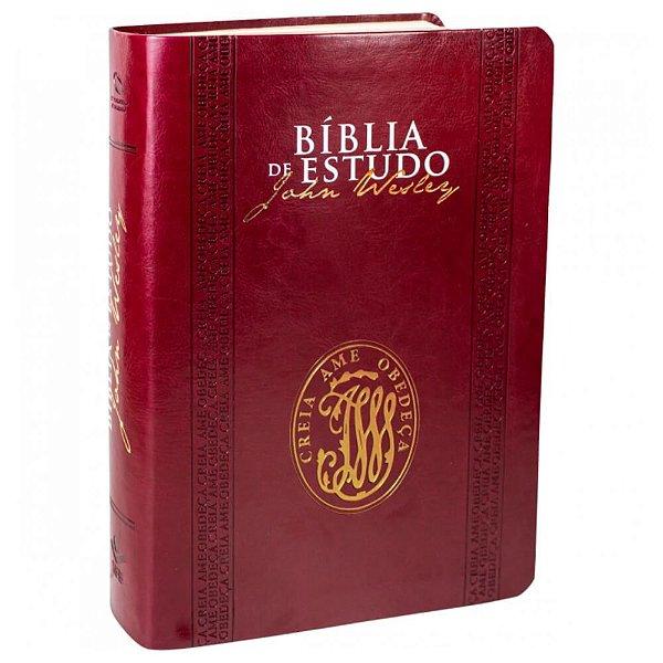 Bíblia de Estudo John Wesley / Nova Almeida Atualizada / Vinho / SBB