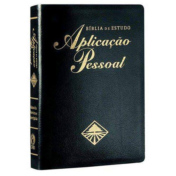 Bíblia de Estudo Aplicação Pessoal Média / Almeida Revista e Corrigida / Capa Luxo – Preta –Borda dourada / CPAD