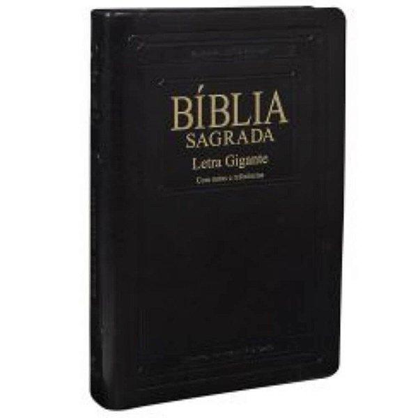 Bíblia sagrada letra gigante edição especial Almeida Atualizada e corrigida cor preta nobre borda dourada índice SBB