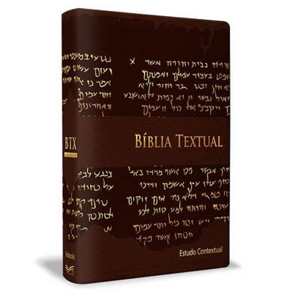 Bíblia Textual - Luxo - Estudo contextual - BV Books Editora