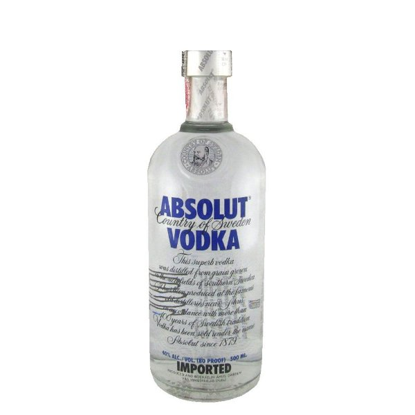 Meia Garrafa Vodka Absolut Regular 500ml