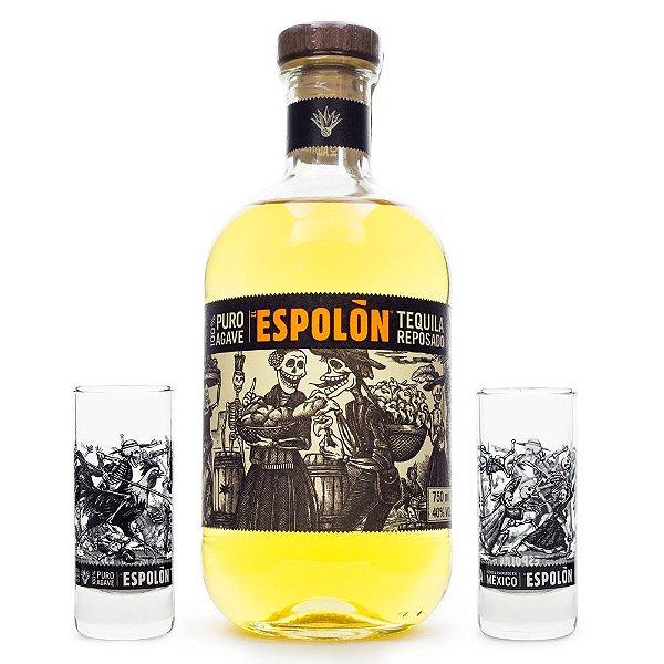 Tequila Espolòn Reposado 750ml + 2 Copos Shot