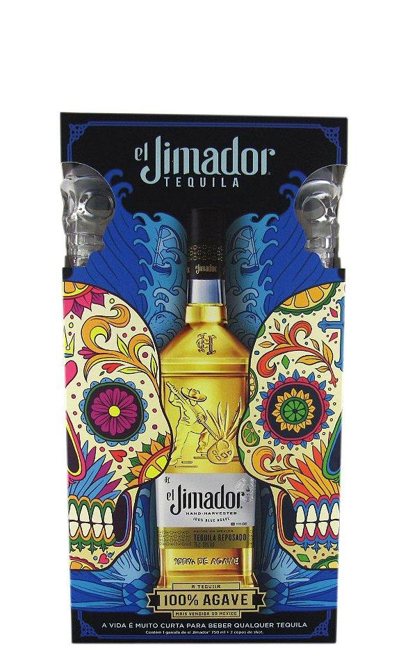 Kit Tequila El Jimador Reposado 750ml c/ 2 copos