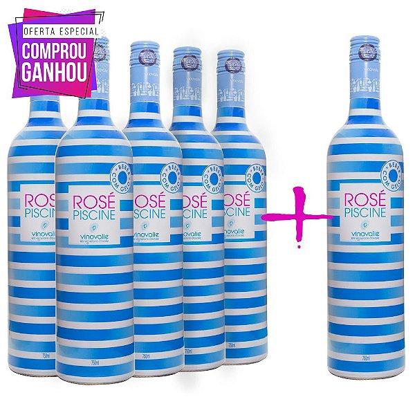 Compre 5 leve 6 Vinhos Rosé Piscine 750ml