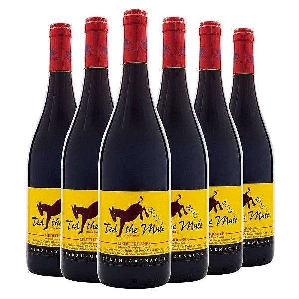 6 Garrafas Vinho Ted The Mule Tinto 750ml