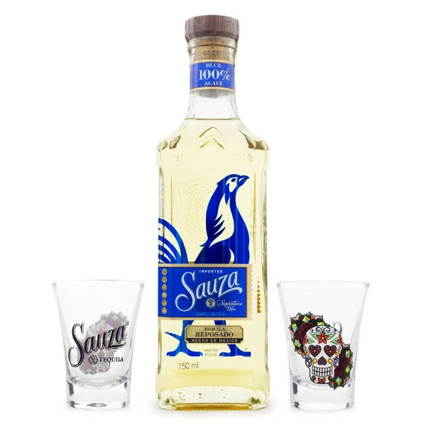 Tequila Sauza Signature Blue Reposado 750ml + Shots