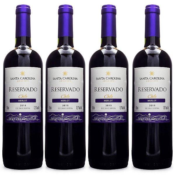4un Vinho Santa Carolina Reservado Merlot 750ml