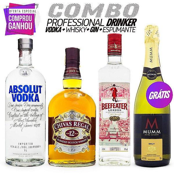 Combo Pro Drinker - Absolut + Chivas + Beefeater + Mumm