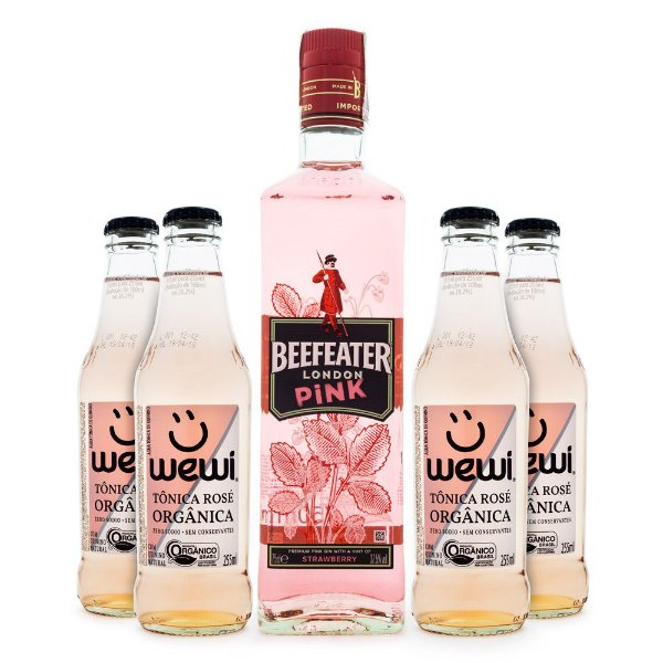 Combo G&T Rosé - Gin Beefeater Pink + Tônica Wewi Rosé