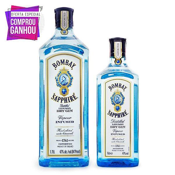 Combo Gin Bombay Sapphire 1,75L + Bombay 750ml