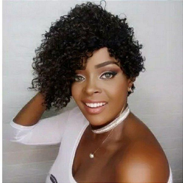 Peruca Wig charme1b preta  (fibra premium)