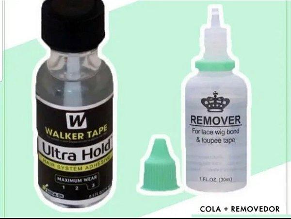 Kit cola + removedor de cola para perucas, laces, próteses e afins