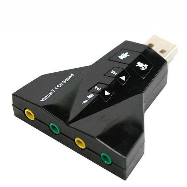 ADAPTADOR PLACA DE SOM 7.1 USB 2.0 MOD AVIAO