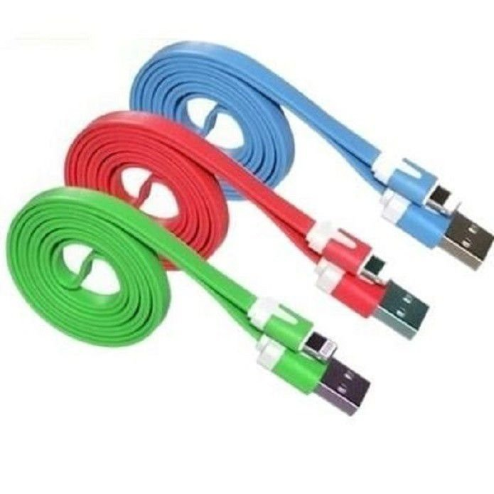 CABO DE DADOS USB MOD. IPHONE 5,6,7,8 COLORIDO (2.0 metros) BAG