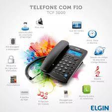TELEFONE COM FIO, IDENTIFICADOR DE CHAMADAS, VIVA VOZ ELGIN TCF3000