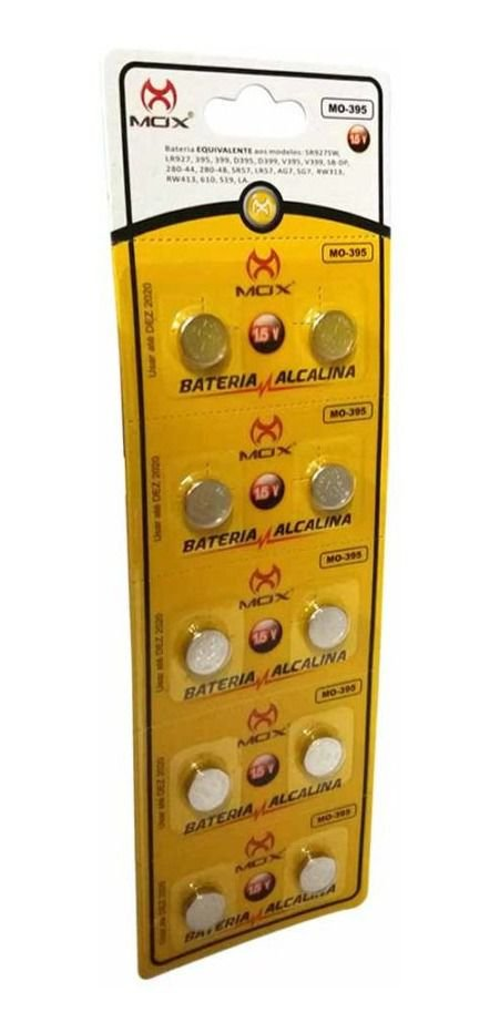 BATERIA BOTAO MOX MO-395 (CARTELA C/ 10 PCS)