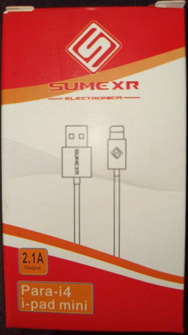 CABO DE DADOS 11 PINOS IPHONE 4/IPAD 2.1A SUMEXR SX-U4