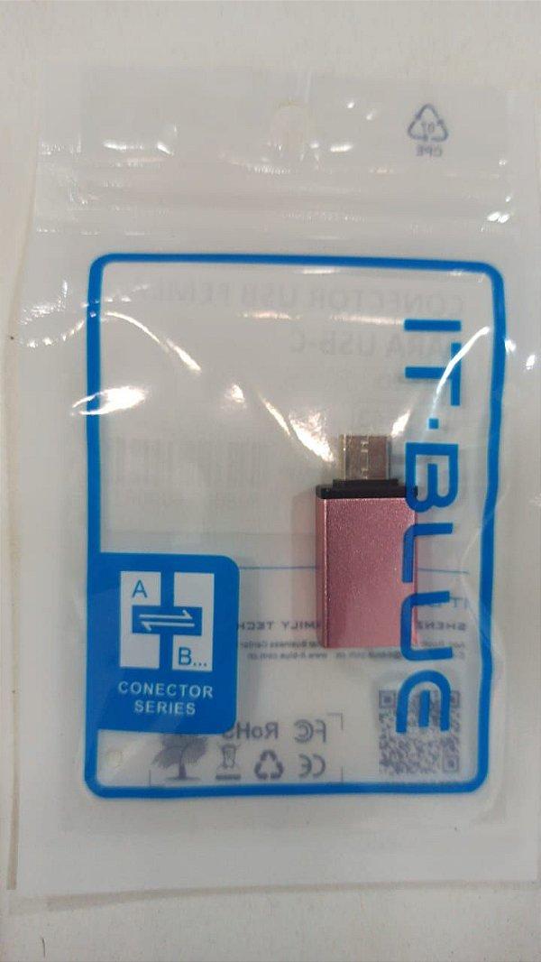 CONECTOR USB FEMEA PARA TYPE-C LELONG LE-5543