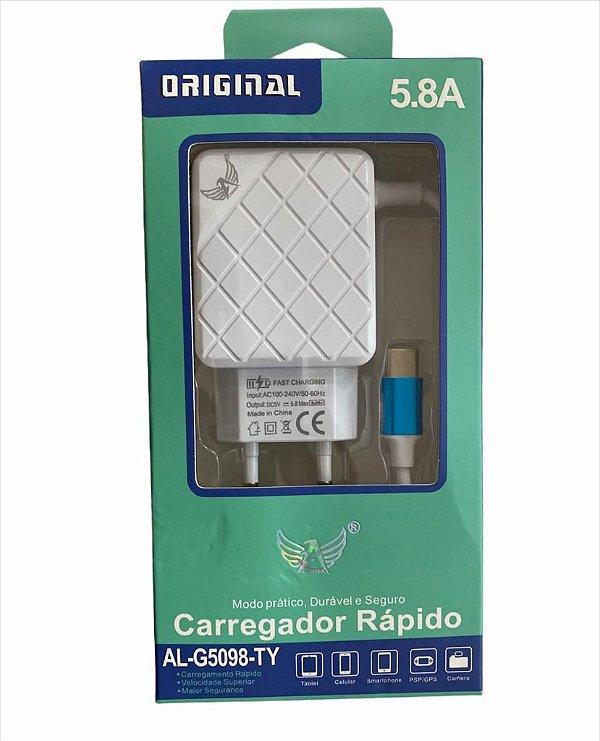 CARREGADOR RÁPIDO TYPE-C 5.8A ALTOMEX AL-G5098-TY