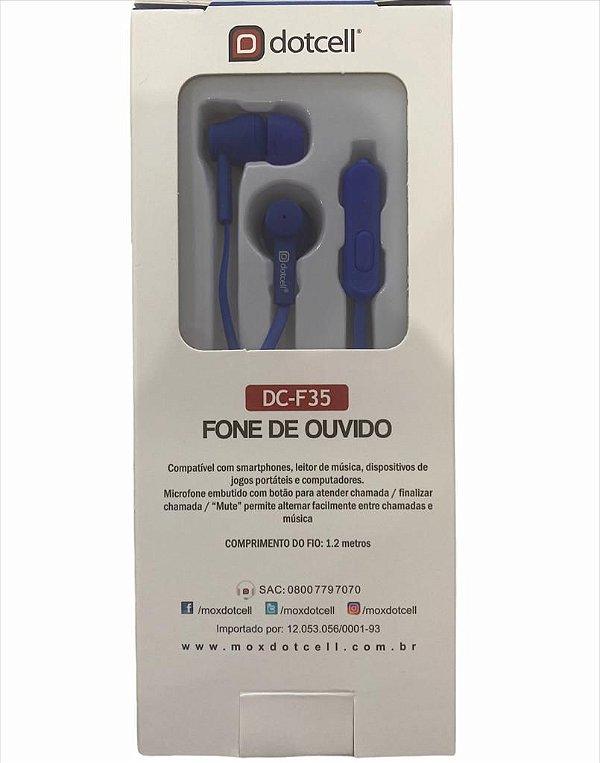 FONE DE OUVIDO DOTCELL DC-F35 - AZUL