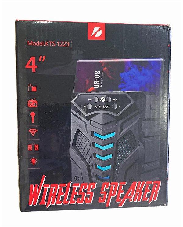 """CAIXA DE SOM WIRELESS SPEAKER 4"""" KTS-1223"""