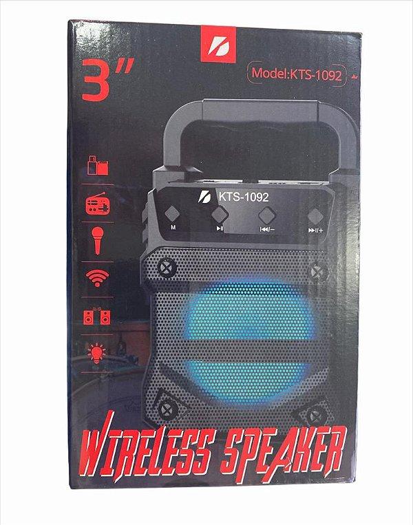 """CAIXA DE SOM WIRELESS SPEAKER 3"""" KTS-1092"""