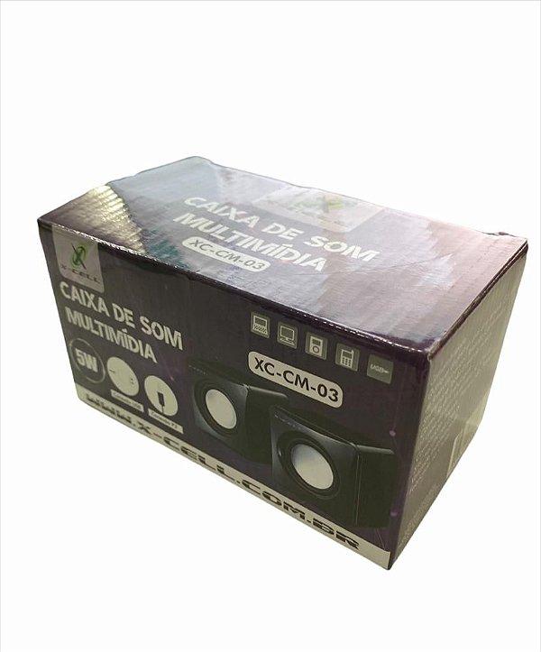 CAIXA DE SOM MULTIMIDIA 5W USB E P2 FLEX XC-CM-03