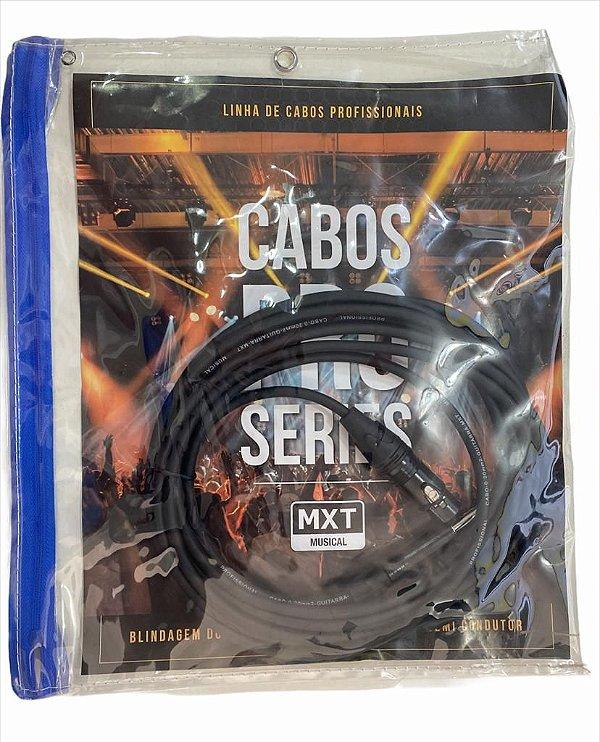 CABO DE MICROFONE PRO SERIES P10 + XLR C30FN3 PRETO 4.57M MXT