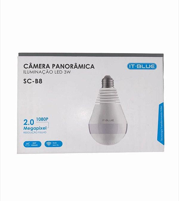 CAMERA PANORAMICA LED 3W 1080P 2.0 MEGAPIXEL 360 GRAUS ITBLUE SC-B8