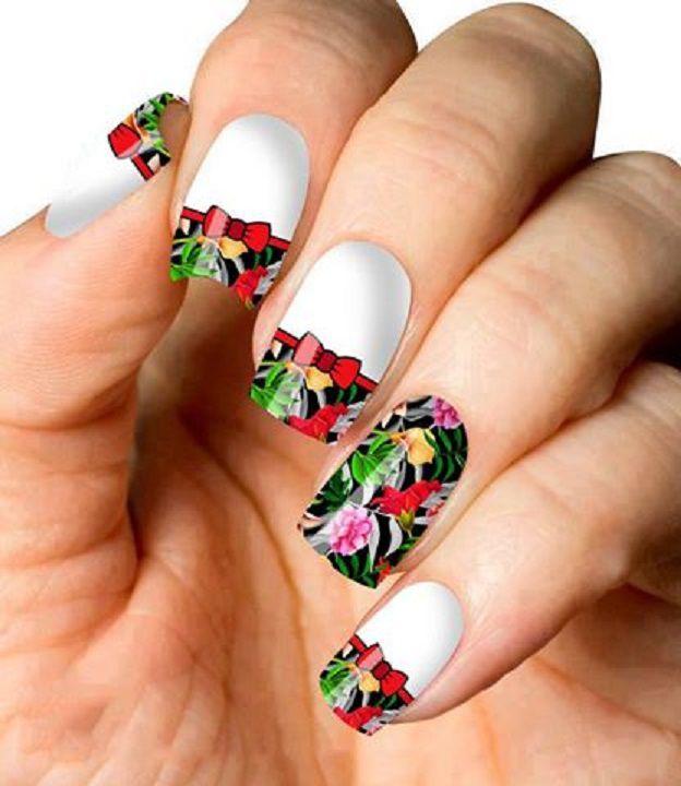 Películas ou Adesivos decorados para unhas  Estampa Floral