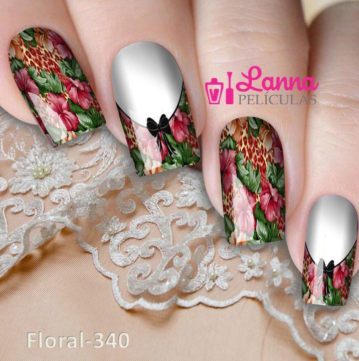 Películas ou Adesivos decorados para unhas  Casadinho Floral
