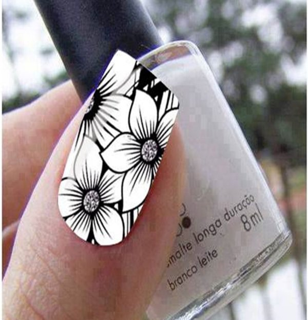 Películas de unha- Modelo Flor Preta (RP)
