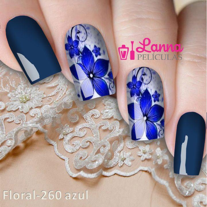 Películas ou Adesivos decorados para unhas  Flor