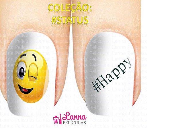 Película de Unhas Modelo #Happy